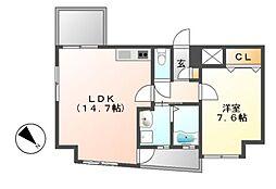 La Facade (ラ・ファサード)[6階]の間取り