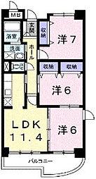 東京都町田市小山ヶ丘3丁目の賃貸マンションの間取り