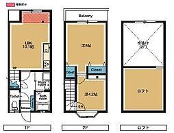 COZY PLACE名島三の丸[2階]の間取り