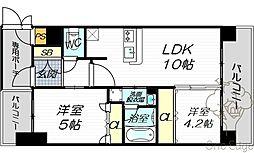 エステムコート梅田天神橋IIグラシオ[11階]の間取り