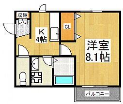 プルミエクニ[2階]の間取り