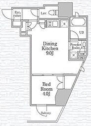 レジディア文京本郷IV[4階]の間取り