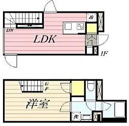 PASEO新宿3丁目2 1階1LDKの間取り