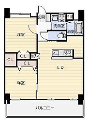福岡県北九州市小倉北区砂津3丁目の賃貸マンションの間取り