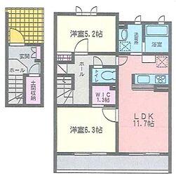 神奈川県茅ヶ崎市東海岸南5丁目の賃貸アパートの間取り