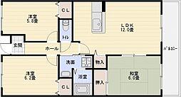 カーザdiポルタ[5階]の間取り
