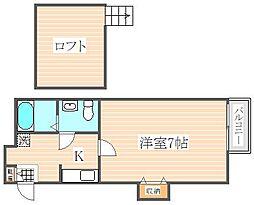 stage吉塚[1階]の間取り