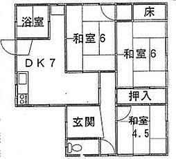 [一戸建] 鳥取県米子市三本松2丁目 の賃貸【/】の間取り