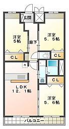 (仮)感田新築アパート[2階]の間取り