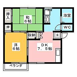ルミエール阪本[2階]の間取り