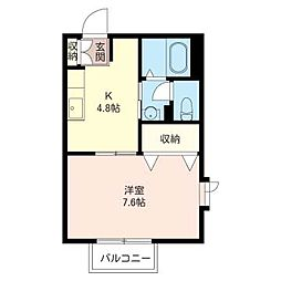 サイレントアベニュー[2階]の間取り