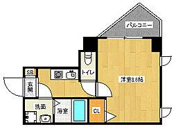 京都府京都市北区紫竹牛若町の賃貸マンションの間取り