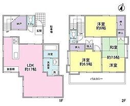 [一戸建] 東京都大田区中央1丁目 の賃貸【/】の間取り