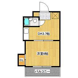 シェモアエスポワール[4階]の間取り