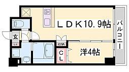 KMS新生水木通[403号室]の間取り