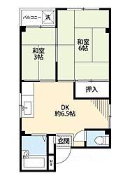 浜村マンション[2階]の間取り