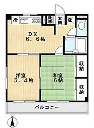 エステート鈴木[2階]の間取り