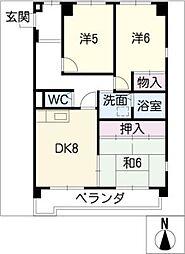 第2グレイスフル吉田 A棟[4階]の間取り