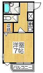 ハーミテージ安朱[3階]の間取り