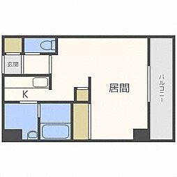 北海道札幌市白石区菊水四条1丁目の賃貸マンションの間取り