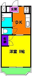 静岡県磐田市富士見町4丁目の賃貸マンションの間取り