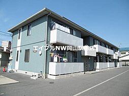 岡山県岡山市北区北方2丁目の賃貸アパートの外観