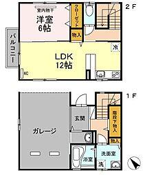 広島県福山市多治米町2丁目の賃貸アパートの間取り