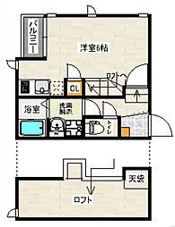 CB吉塚ベルジェ[2階]の間取り