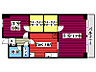 間取り,1LDK,面積54.5m2,賃料6.5万円,JR仙石線 榴ヶ岡駅 徒歩8分,仙台市営南北線 仙台駅 徒歩20分,宮城県仙台市宮城野区西宮城野