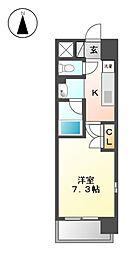 レーベスト平安[7階]の間取り