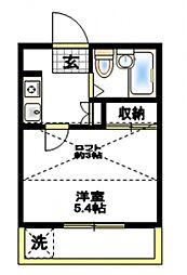 ルミエール横浜[2階]の間取り