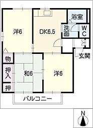 ディアスパーシモンB棟[2階]の間取り