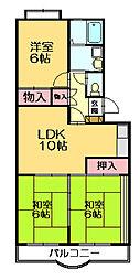 フラワー24[4階]の間取り