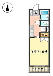 愛知県長久手市平池の賃貸アパートの間取り