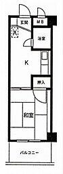 ファミーユ第2前川ビル[4階]の間取り