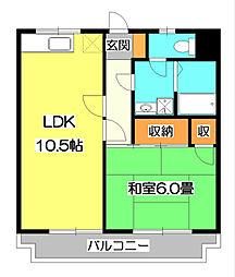 東所沢グリーンハイツ1号棟[3階]の間取り