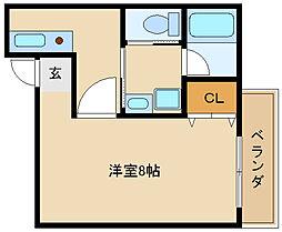 兵庫県尼崎市南塚口町8の賃貸マンションの間取り