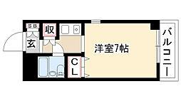 愛知県名古屋市瑞穂区中山町1丁目の賃貸マンションの間取り