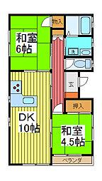 ヨコタコーポ[1階]の間取り