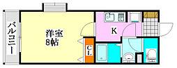 セイントウィーブ3[2階]の間取り