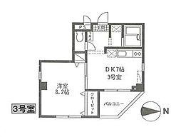 飯塚ビル[4階]の間取り