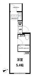 JR中央線 高円寺駅 徒歩11分の賃貸マンション 3階ワンルームの間取り