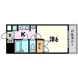 ステラハウス4−500[1階]の間取り