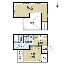 Attic堺(アティックサカイ)[2階]の間取り