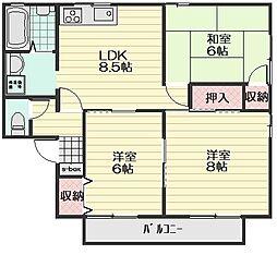 コーポ松本[2階]の間取り