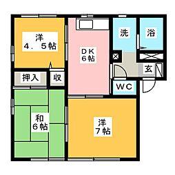フラット・トラスト A棟[1階]の間取り