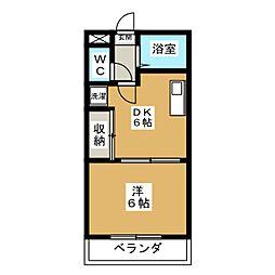 シギハイツ竹田[4階]の間取り