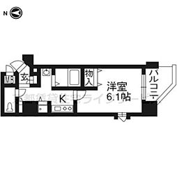 プレサンス京都五条大橋レジェンド401号[4階]の間取り