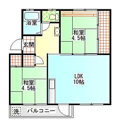 後藤アパート[2階]の間取り