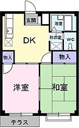 埼玉県春日部市藤塚の賃貸アパートの間取り
